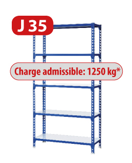 Rayonnage metallique J200 charge admissible